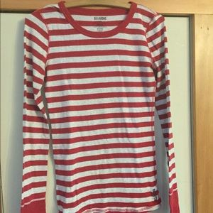 Women's casual Billabong striped shirt, size large